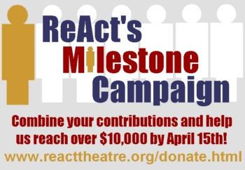 Click here to donate to REACT'S MILESTONE CAMPAIGN